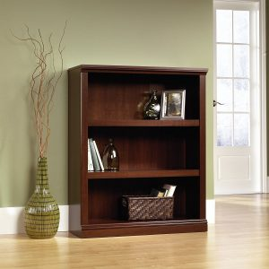 Sauder-3-Shelf-Bookcase-Select-Cherry