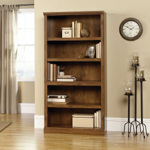 Sauder-5-Shelf-Bookcase-Oiled-Finish