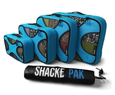 Shacke Pak - 4 Set Packing Cubes - Travel Organizers with Laundry Bag TOP 10 BEST TRAVEL CUBES IN 2021 REVIEWS