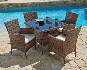 Suncrown-Furniture-All-Weather-Washable-Cushions Outdoor Dining Table
