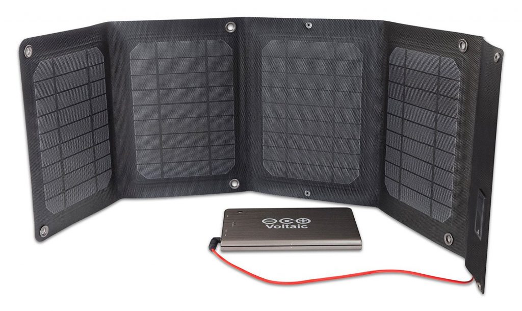 Voltaic Systems - Arc 20 Watt Solar Laptop Charger Kit with Backup Battery Pack - Powers Laptops, Phones & USB Devices - Solar Charge your Laptop Anywhere