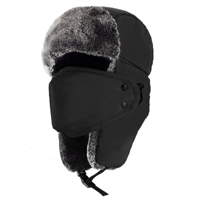 Mysuntown Winter Trooper Trapper Hunting Hat Ushanka Ear Flap Chin Strap