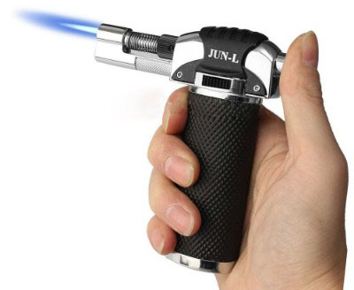 JUN-L Micro Butane Gas Torch Lighter for crème brûlée, Chefs Butane Torch, Culinary Blowtorch