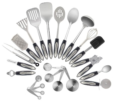 Stainless Steel Kitchen Utensil Set, 23-Pc Set, Everything You Need For Cooking