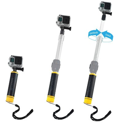 Waterproof Telescopic Pole and Floating Hand Grip in one - For Gopro Hero