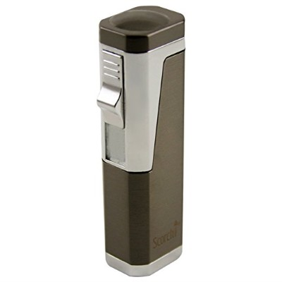 Scorch Torch Skyline Triple Jet Flame Butane Torch Cigar Lighter w_ Punch Cutter Tool