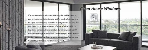 Window Cleaning Robot Steamer, Automatic Vacuum Shower Cleaner