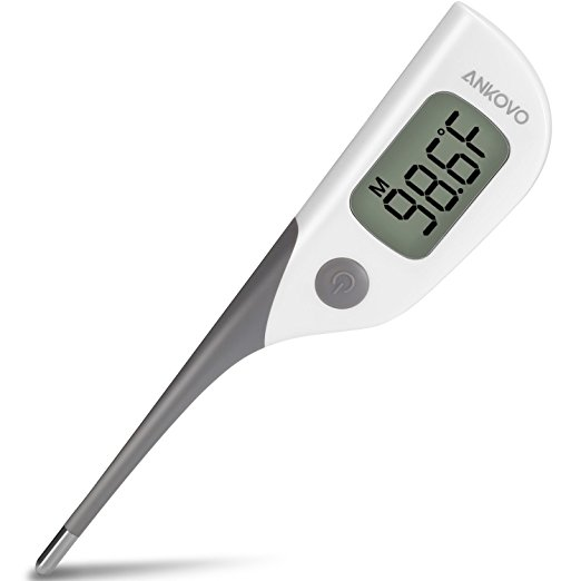 ANKOVO Medical Digital Thermometer Oral Rectal and Armpit
