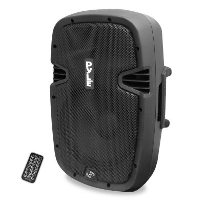 Pyle PPHP1037UB Powered Active PA Loudspeaker Bluetooth System - 10 Inch Bass Subwoofer Monitor Speaker and Built in USB for MP3 Amplifier - DJ Party Portable Sound Equipment Stereo Amp Sub for Concert Audio or Band Music
