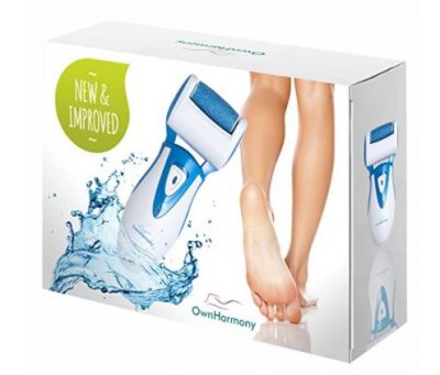 Rechargeable Electric Callus Remover and Shaver - Electronic Foot File CR900 by Own Harmony (Tested Most Powerful) Best Pedicure Tools w/ 3 Rollers-Reg & Extra Coarse - Professional Pedi Feet Care