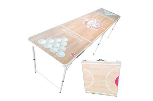 8-Foot Beer Pong Table Portable Foldable Adjustable,Picnic