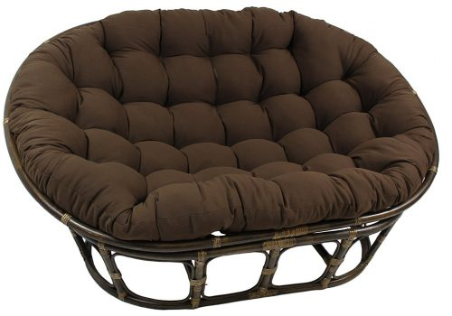Blazing Needles Solid Twill Double Papasan Chair Cushion