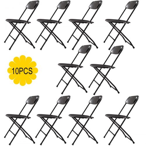 Commercial Black Plastic Folding Chairs