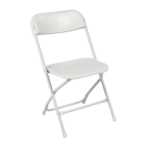 Commercial White Plastic Folding Chairs Stackable Wedding Party Event Chair-Plastic Folding Chairs