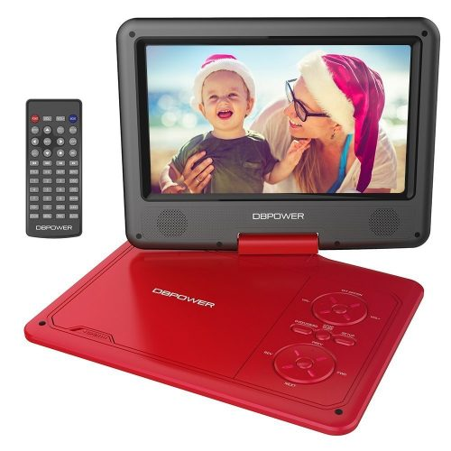 DBPOWER 9.5-Inch Portable DVD Player with Rechargeable Battery-Portable Blu Ray DVD Players