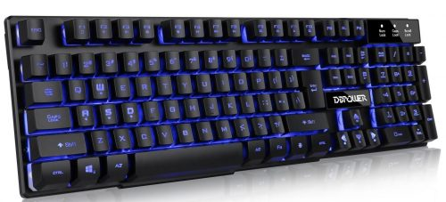 DBPOWER Three Colors Backlit LED Keyboard for Gaming