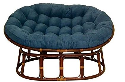 Double Papasan Chair With Microsuede Cushion, Papasan Chair Cushion