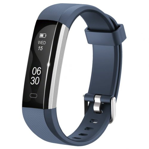 Lintelek Slim Fitness Tracker Watch, Touch Screen Bluetooth Pedometer Smart Bracelet