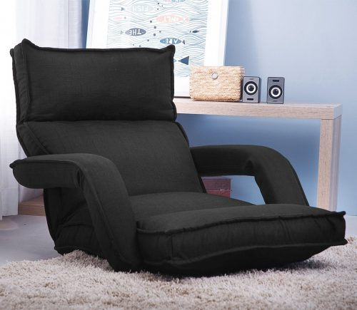 Merax Adjustable Fabric Folding Chaise Lounge Sofa Chair