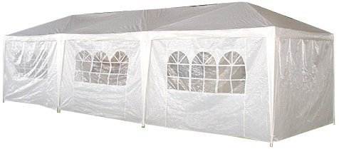 Palm Springs 10 x 30 Foot White Party Canopies