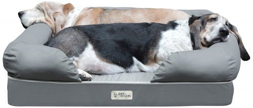 PetFusion Ultimate Solid WATERPROOF Memory Foam Dog Bed