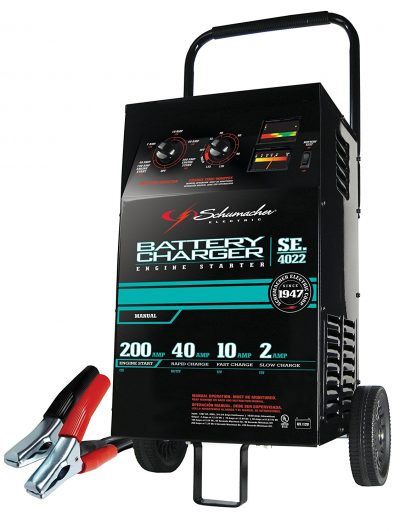 Schumacher SE-4022 2/10/40/200 Amp Manual Wheeled Battery Charger