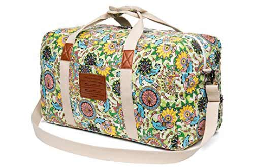 Malirona Canvas Weekender Bag Travel Duffel Bag