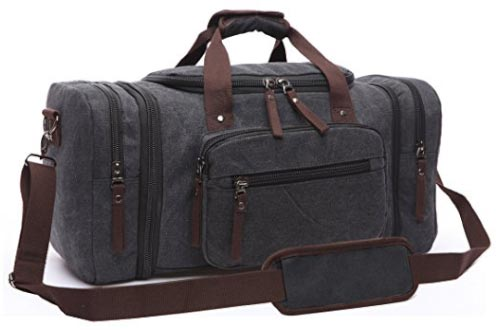 Canvas Duffel Bag, Aidonger Vintage Canvas Weekender Bag Travel Bag