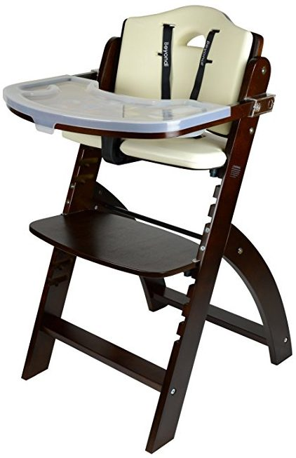 Abiie Beyond Wooden High Chairs For Baby with Tray
