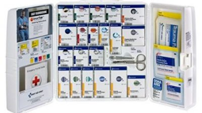 First Aid Only 50 Person, Large SmartCompliance General Workplace First Aid Plastic Cabinet with Medications