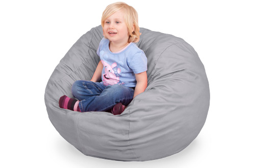 Oversized Bean Bag Chair in Steel Grey