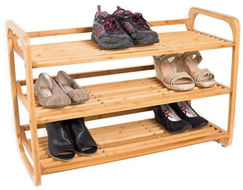 BirdRock Home 3-Tier Bamboo / wooden Shoe racks