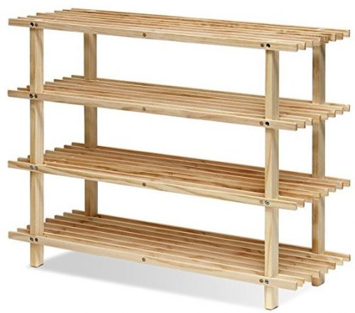 Furinno FNCJ 4-tier wooden shoe racks