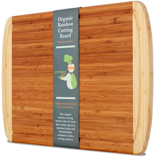 Greener Chef Extra Large Organic Bamboo Cutting Board