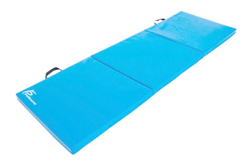Folding Thick Exercise Mat 6'x2' with Carrying Handles for Gymnastics