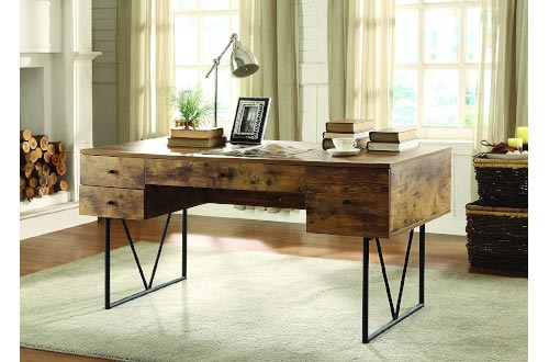 Coaster Home Furnishings Analiese Writing Desk - Antique Nutmeg