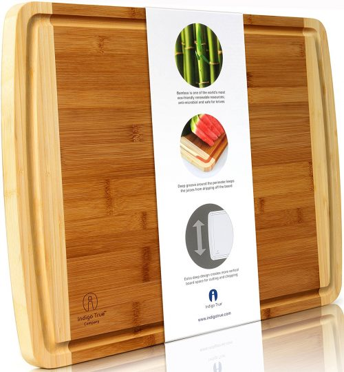 Indigo True Company Bamboo Cutting Board
