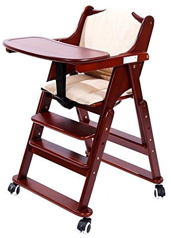 MallBoo Solid Wooden High Chair