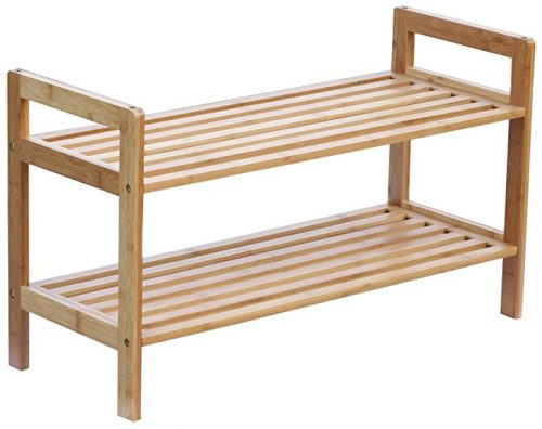 Oceanstar 2-Tier bamboo stackable shoe racks / wooden shoe racks