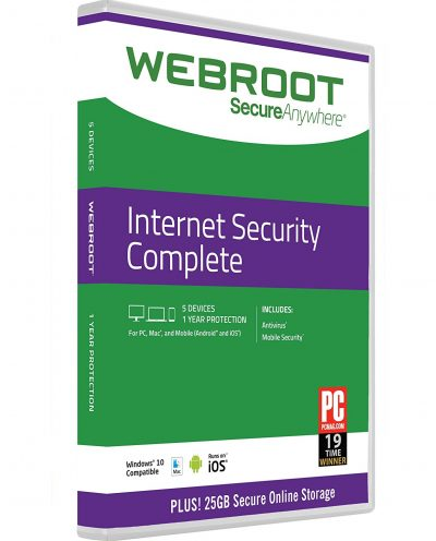 Roll over image to zoom in Webroot Internet Security Complete + Antivirus 2018