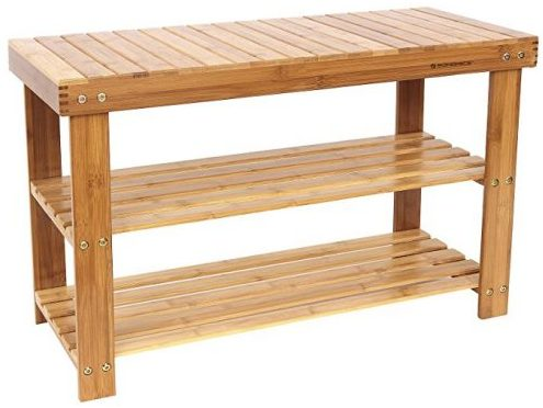 Songmics 2- Tier wooden shoe racks bench