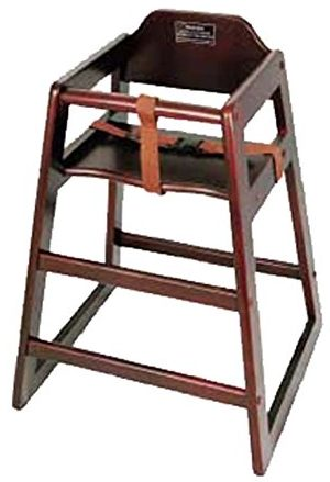Winco CHH-103 Unassembled Wooden High Chair