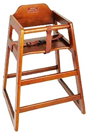 Winco CHH-104 Unassembled Wooden High Chair