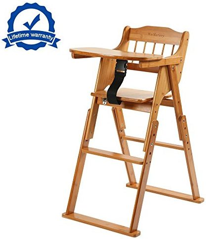Wooden Folding Baby High Chairs with Tray