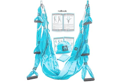 Yoga Swing/Aerial Trapeze Kit with 2 Durable Extension Straps+eBook