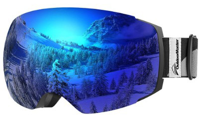 OutdoorMaster Ski Goggles PRO - Frameless, Interchangeable Lens 100% UV400 Protection Goggles