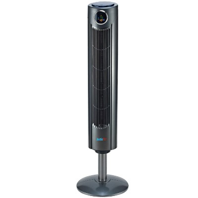 Arctic-Pro Digital Screen Oscillating Tower Fan with Remote Control, Dark Gray, 42 In.