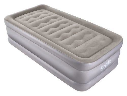 Air Mattress with Built-in Electric Pump, Sable Twin size Inflatable Airbed for Camping