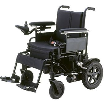Drive Medical Cirrus Plus Folding Power Wheelchair with Footrest and Batteries, Black, 16""
