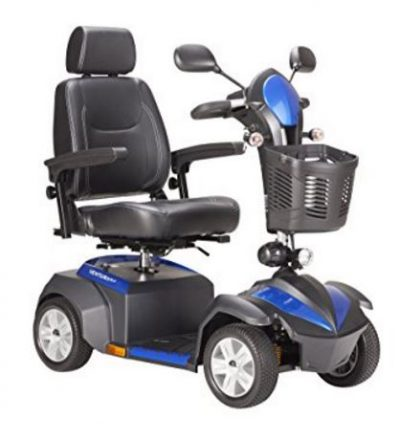 "Drive Medical Ventura Power Mobility Scooter, 4 Wheel, 18"" Captains Seat"